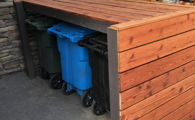 Custom garbage storage
