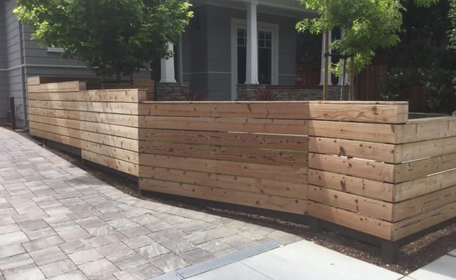 Pavers and fencing
