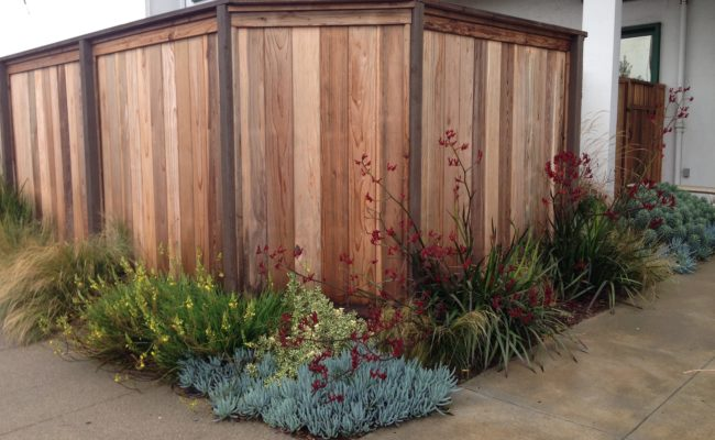 Ital Foods – Landscaped Fence Corner